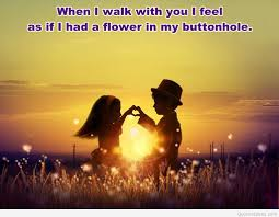 romantic quote with a beautiful background
