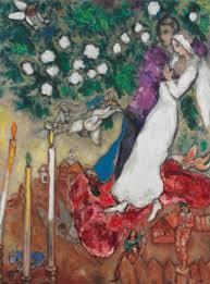 marc chagall 1887 1985 les trois cierges 1930s paintings