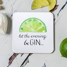 humorous gin drinks coasters by have a gander notonthehighstreet com