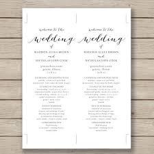 wedding program template printable wedding program template vastuuonminun