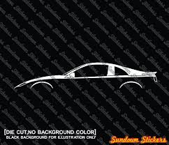 2x car silhouette stickers for nissan 300zx z32 japanese