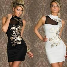 2017 fashion summer dresses for women gold flower print mini