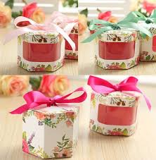 candy containers for favors 100 x hexagonal style floral see through wedding favors candy