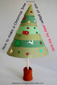 how to make a christmas tree out of paper for kidseducator101