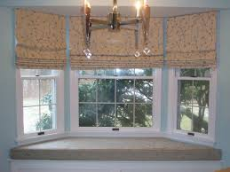 interior polka dots bay window treatments kitchen with cream