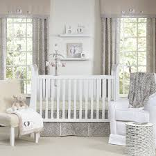 Curtains For Girls Nursery by White Wooden Baby Crib And Brown Rug On Ceramics Flooring Plus