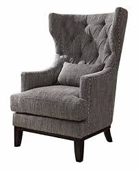 Grey And White Accent Chair Homelegance 1217f1s Accent Chair With Kidney Pillow