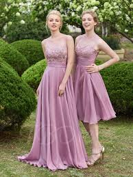 bridesmaid dresses scoop neck lace zipper up floor length a line bridesamid dress