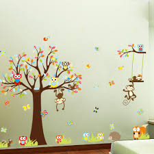 Stickers For Kids Room Online Get Cheap Monkey Tree Aliexpress Com Alibaba Group