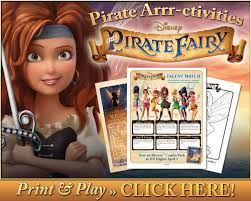 free pirate fairy coloring pages and activity sheets piratefairy