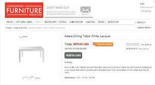 White Parsons Dining Table Get It For Less White Parsons Table Living Well On The Cheap