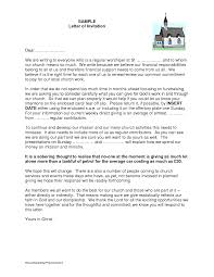 Charity Thank You Letter Sample church letter template