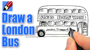 how to draw a london bus real easy youtube