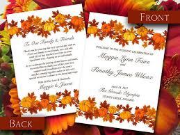 Word Template For Wedding Program 194 Best Autumn Wedding Images On Pinterest Pumpkins Menu And