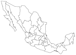 Blank Mexico Map by Clipart Mexique Politique