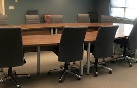 Contemporary Conference Table Project U Shaped Conference Table With Leather Conference Chairs