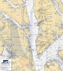 Alaska Ferry Map by Alaska Sea Adventures Southeast Alaska Cruising Map Alaska Sea