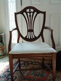duncan phyfe 1940s 9 piece mahogany dining room set 6 shield back
