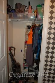 wardrobe organization front hall closet organization organize 365