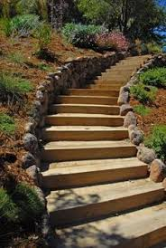 the 2 minute gardener photo landscape timber stairs steps on