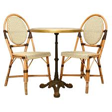 Woven Bistro Chairs Incredible Bamboo Bistro Chairs Outdoor Furniture French Bamboo