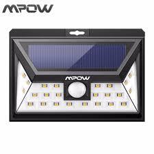 bright night solar lighting mpow 24 led solar lights human body motion sensor outdoor l