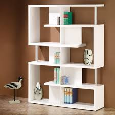 coaster bookshelf modern white finish home office bookcase 800310