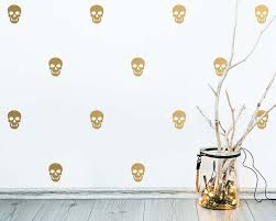 skull wall decals halloween decor modern wall decals cute zoom