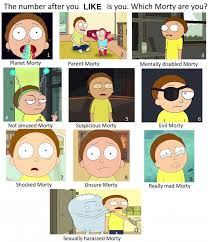 Which Meme Are You - rick and morty meme which morty are you on bingememe