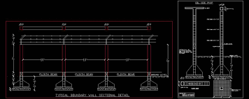 boundary wall structure detail plan n design