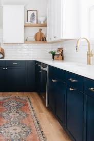 navy blue kitchen cabinet design blue cabinets with granite countertops design ideas