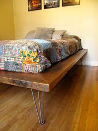Bed Frame Legs For Hardwood Floors Arbor Exchange Reclaimed Wood Furniture Platform Bed Hairpin Legs