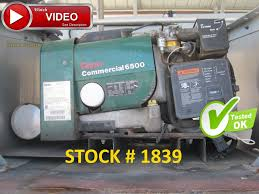 onan commercial 6500 watt generator 120 240v 2972 hrs runs great