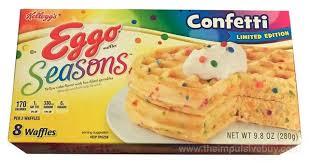 Eggo Toaster Waffles Review Kellogg U0027s Limited Edition Eggo Seasons Confetti Waffles