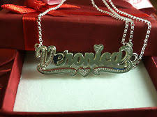Double Plated Name Necklace Personalized Double Name Meanings Ebay