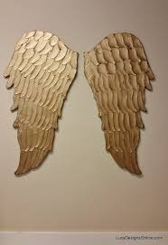 Angel Wings Home Decor by Wood Angel Wings Wall Art Large Carved Look Wooden Angel Wings