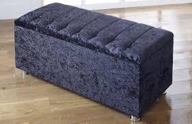 Storage Ottoman Uk by New Ottoman Storage Blanket Box In Crushed Velvet