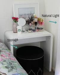 Small Makeup Desk Makeup Vanity For Small Spaces The Makeup Box Shop