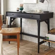 Small Black Desks Mid Century Mini Desk Black West Elm