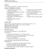 interesting data analyst resume example for employment featuring