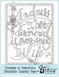 coloring pages on kindness free coloring page kindness is everything adult coloring