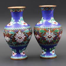 Enamel Vase 1 Pair Of Handmade Cloisonne Enamel Vase Painting On Aliexpress