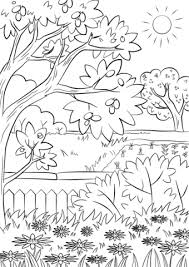 summer garden coloring free printable coloring pages