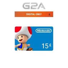 nintendo gift card 15 nintendo eshop gift card 15 gbp nintendo switch 3ds wiiu