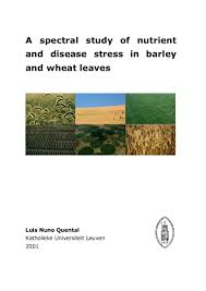 a spectral study of nutrient and disease stress in barley and wheat l u2026