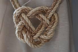 sisal and manila celtic heart curtain tiebacks shabby