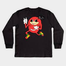 Meme Shirts - knuckles meme kids long sleeve t shirts teepublic