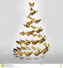 butterfly christmas tree stock illustration image 80931285