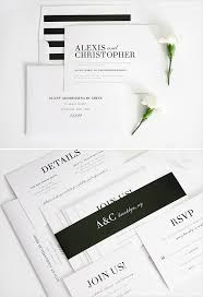 wedding invitations black and white chic and wedding invitations