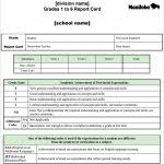 report card excel template report card template 29 free word excel